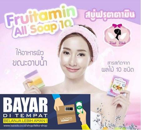 Rp 24.000. Fruity Rainbow Soap 10 in 1 Whitening Soap Fruitamin Sabun Pemutih Badan BPOM ...