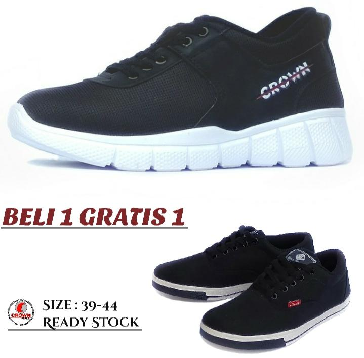 MAHKOTA.F- CROWN - Sepatu - Pria Wanita- Sneakers - Olahraga - Kets - Sport kasuel  Free  Sepatu Worth - 0101
