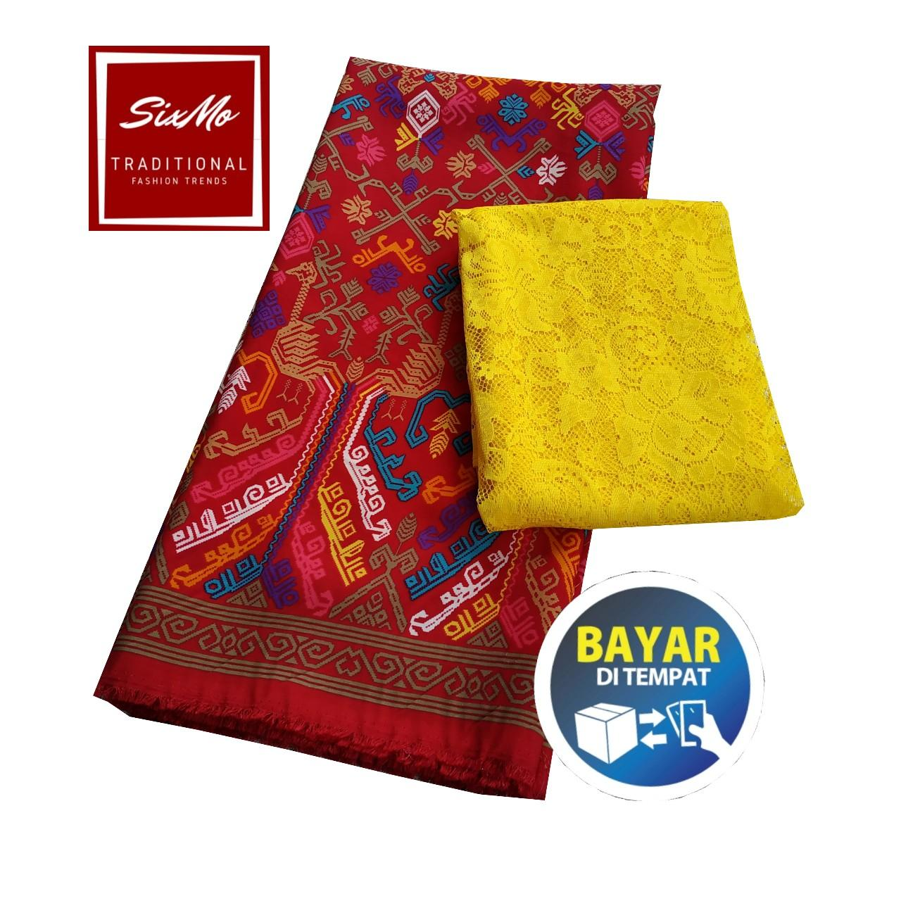 sixmo - setelan kain satin batik merak bali kain atasan dan bawahan