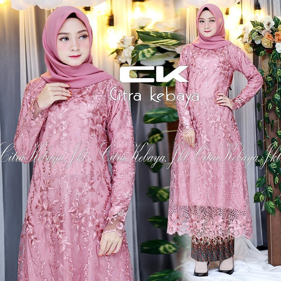 Setelan kebaya modern remaja hijab style modis cantik terbaru/ Kebaya model  tunik tille/ Kebaya pesta/ kebaya wisuda/ kebaya keluarga