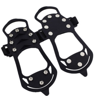 10 Stud Ice Gripper Spikes for Shoe Anti Slip Climbing Snow Crampons Cleats Chain Claws Grips Boots Cover thumbnail