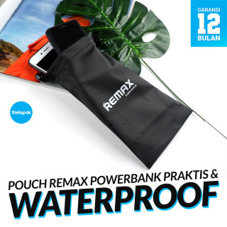 Pouch Waterproof Remax Power Bank Pouch Waterproof RM-PCH-BK Pouch Pouch Powerbank Pouch Waterproof Tempat Powerbank Kantong Powerbank Tas Powerbank Kantong Waterproof Powerbank thumbnail