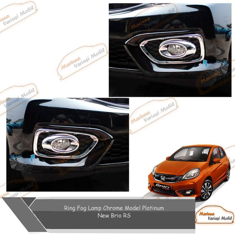 Ring Fog Lamp Chrome Model Platium Mobil New Brio Rs