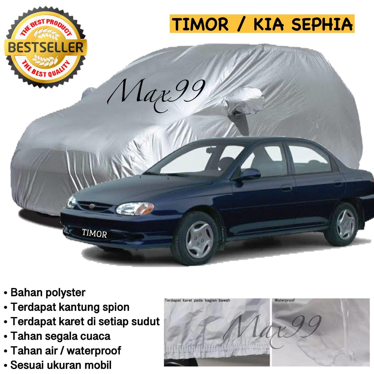COD - Sarung Mobil Timor / Sarung Mobil Kia Sephia Car Body Cover Timor Silver Coating / Selimut Mobil Sedan Timor / Mantel Mobil Timor / Penutup Mobil Timor - Max99