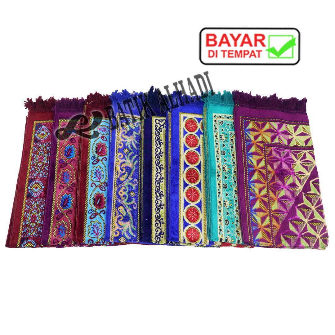 Sajadah Velteksa Midi Multicolor, Sajadah Bulu Beludru Halus made in Turkey (SVT005) Batik Alhadi