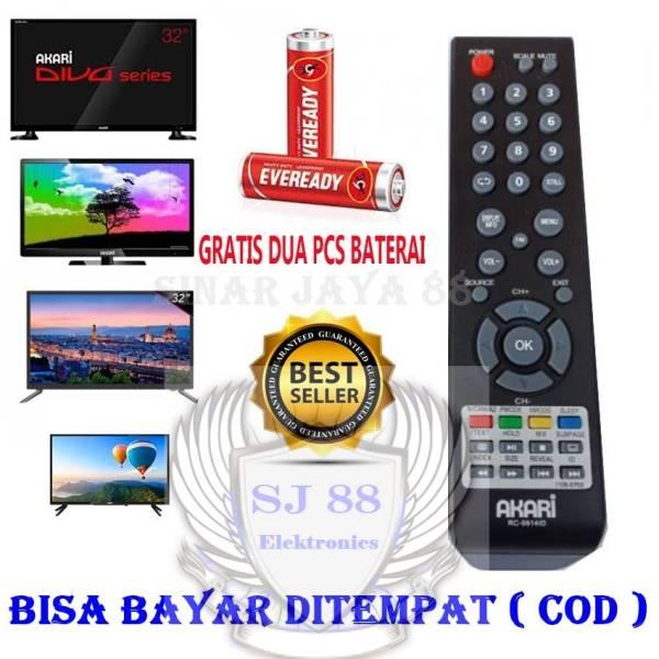 Remot Akari Remot TV LED/LCD Akari RC 9914 ID Free Baterai And Packing