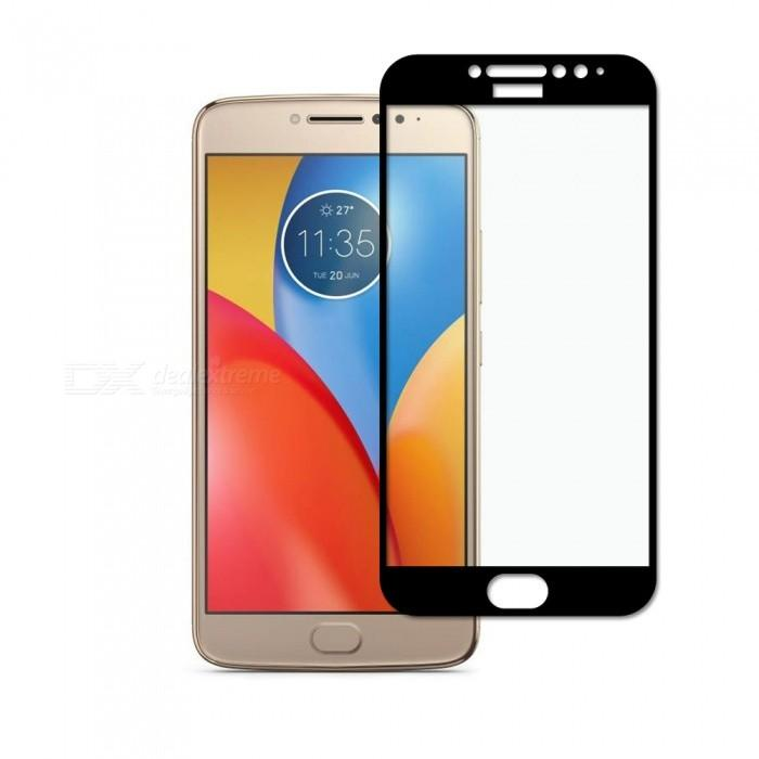 HMC Motorola Moto E4 Plus - 2.5D Full Screen Tempered Glass + Lis Black