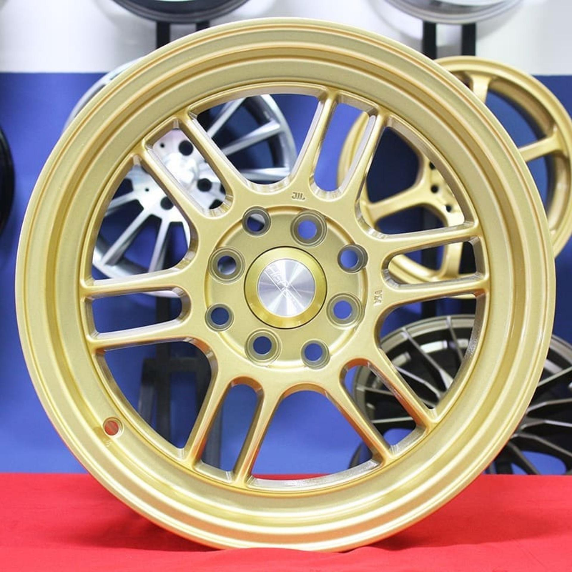 Velg Mobil R15 HSRKUMAMOTO, Pelek Racing Agya Ayla Brio Calya Sigra Avanza Jazz Freed dll