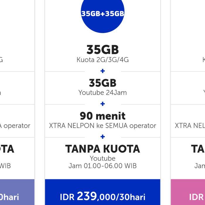 Paket Data Internet XL Xtra Combo 35gb