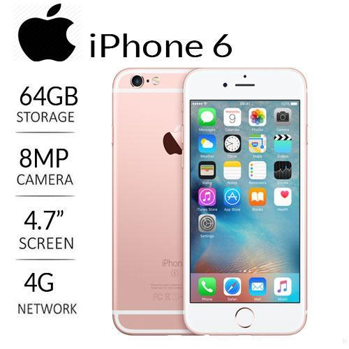 IPHONE 6 [ LCD 4,7 , RAM 1GB, DUALCORE 1.4GHz , CAM 8MP ]
