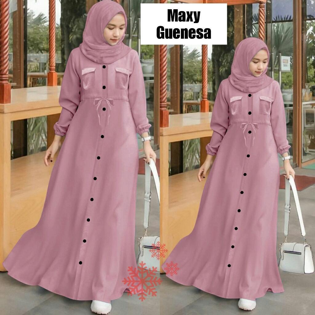 Lx Maxi Guenesa Gamis Baju Muslim Fashion Hijab Lazada Indonesia