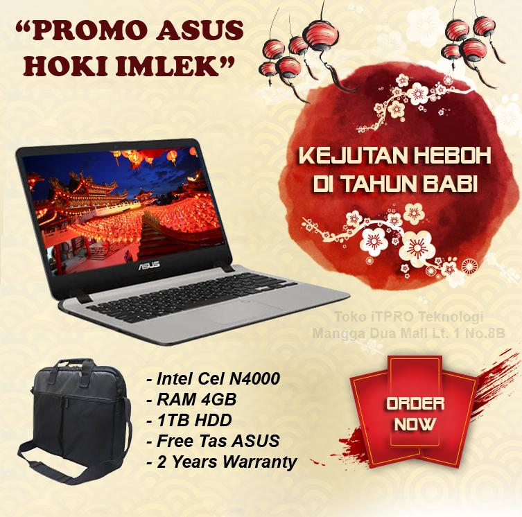 ASUS A407MA-BV002T Gold - Intel N4000,4GB,1TB,14 inch HD,W10