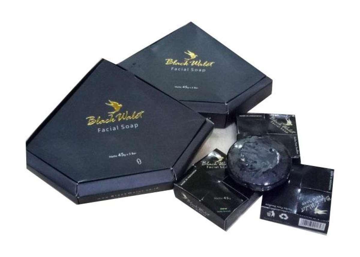 Black Walet Sabun Soap Muka - 3pcs ( 1 kotak )