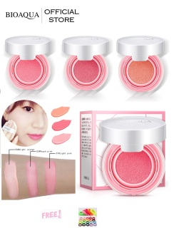 BIOAQUA Official Smooth Muscle Flawless Blush On Cushion - 12g - Perona Pipi Bioaqua Bio Aqua Terlihat Natural dan Warna Soft Color Blusher Blush On Powder Mini Cushion Ringan Dipakai Bulu Soft Kemasan Mini Bulu Super Lembut + Free Ikat Rambut - 1Pcs thumbnail