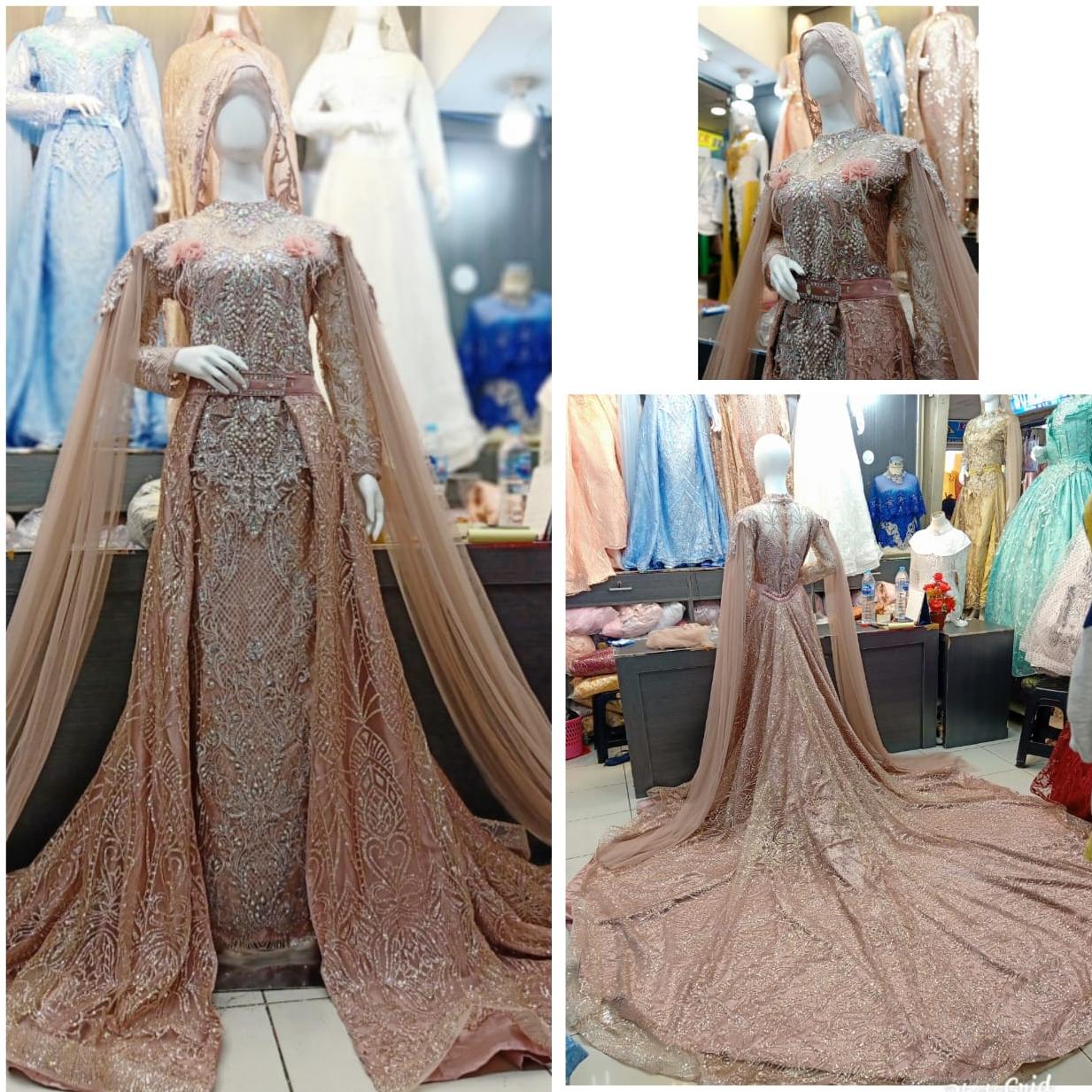 TERMURAH !! gaun pengantin modern / gaun akad modern ORIGINAL / KEBAYA  pengantin terbaru 10