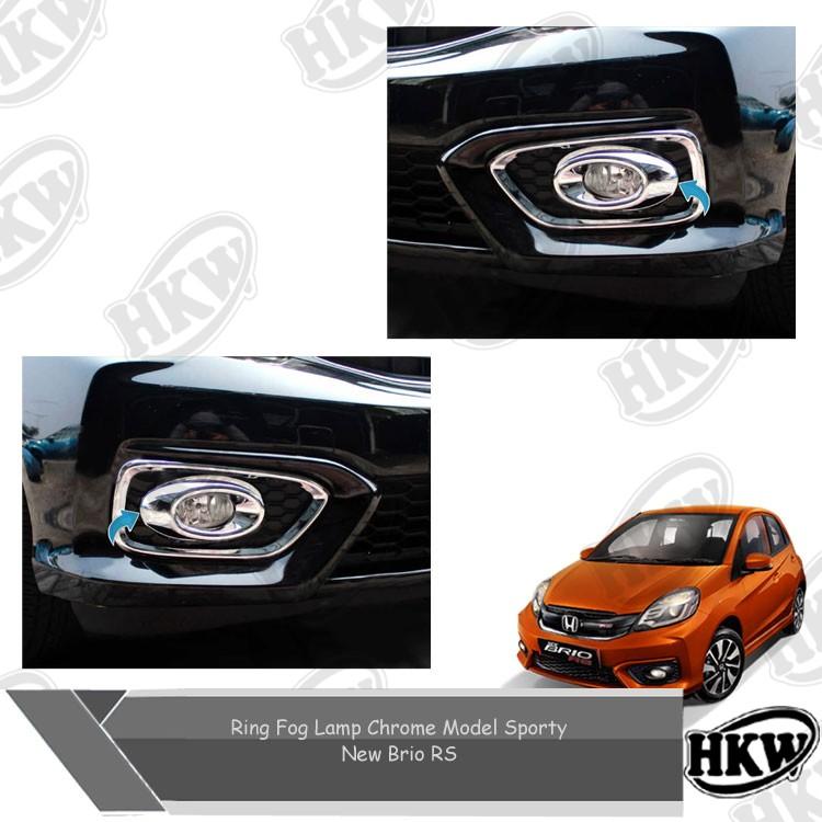 Ring Fog Lamp Chrome Model Sporty Mobil New Brio Rs
