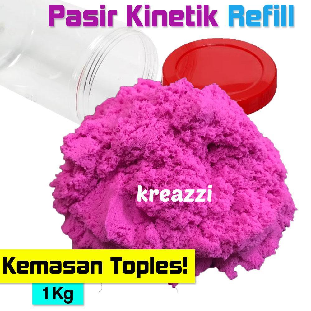 Pasir Kinetik REFILL 1 KG - Pink Fanta - Magic Kinetic Play Sand / Pasir Ajaib