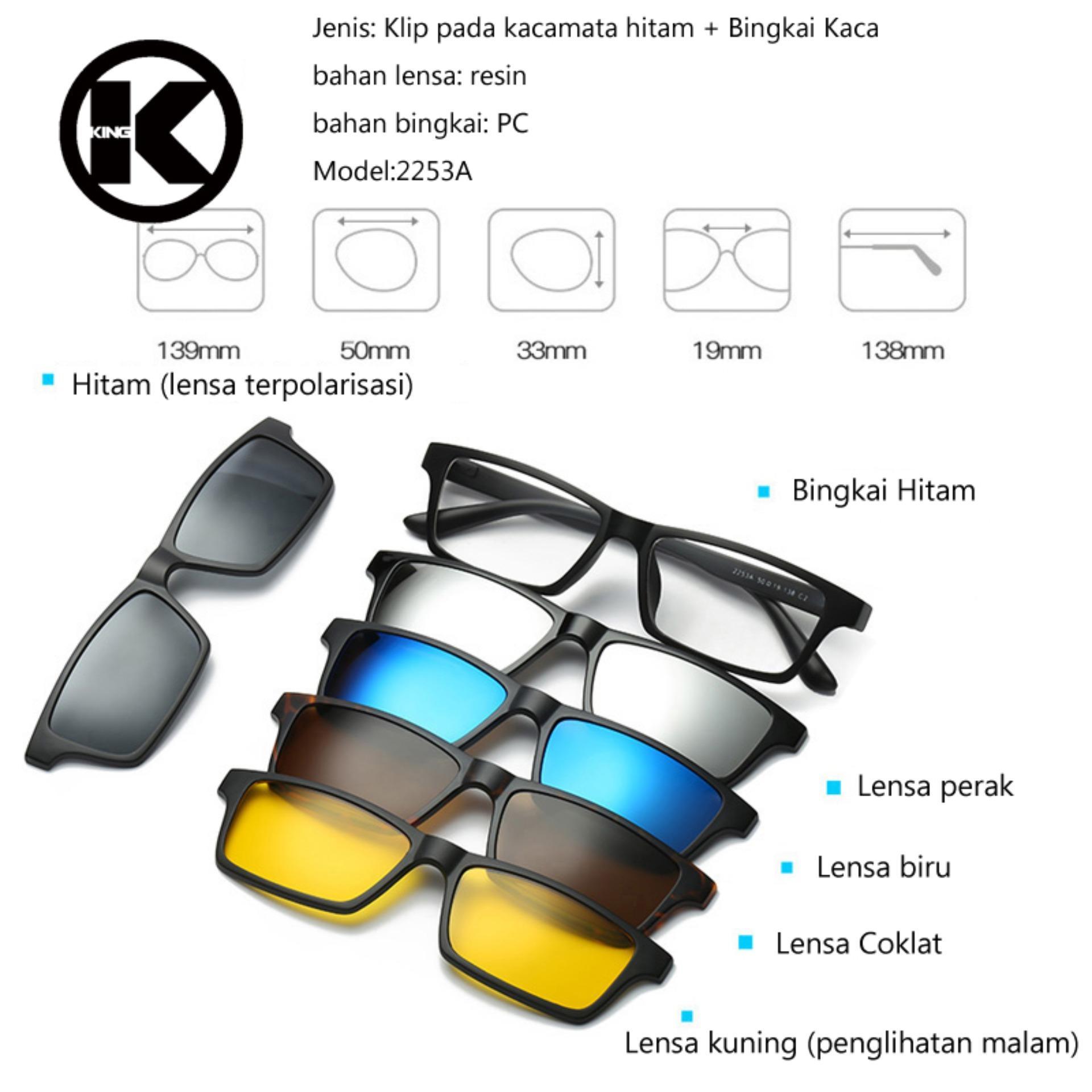 5 + 1 Gugatan Mode Klip Pada Kacamata Wanita Frame Klip Kacamata Magnetik  Magnet Kacamata Pria 3c4d24ddcc