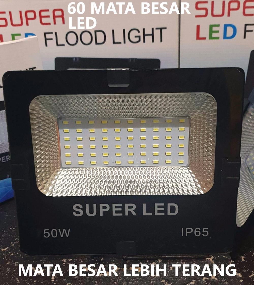 Lampu sorot led 50 watt Lampu Sorot LED 50W Floodlight 50 W Lampu Tembak SMD Lampu Outdoor Lapangan 150 LED CHIP MATA LEBIH BANYAK BODY BESAR SUPER TERANG
