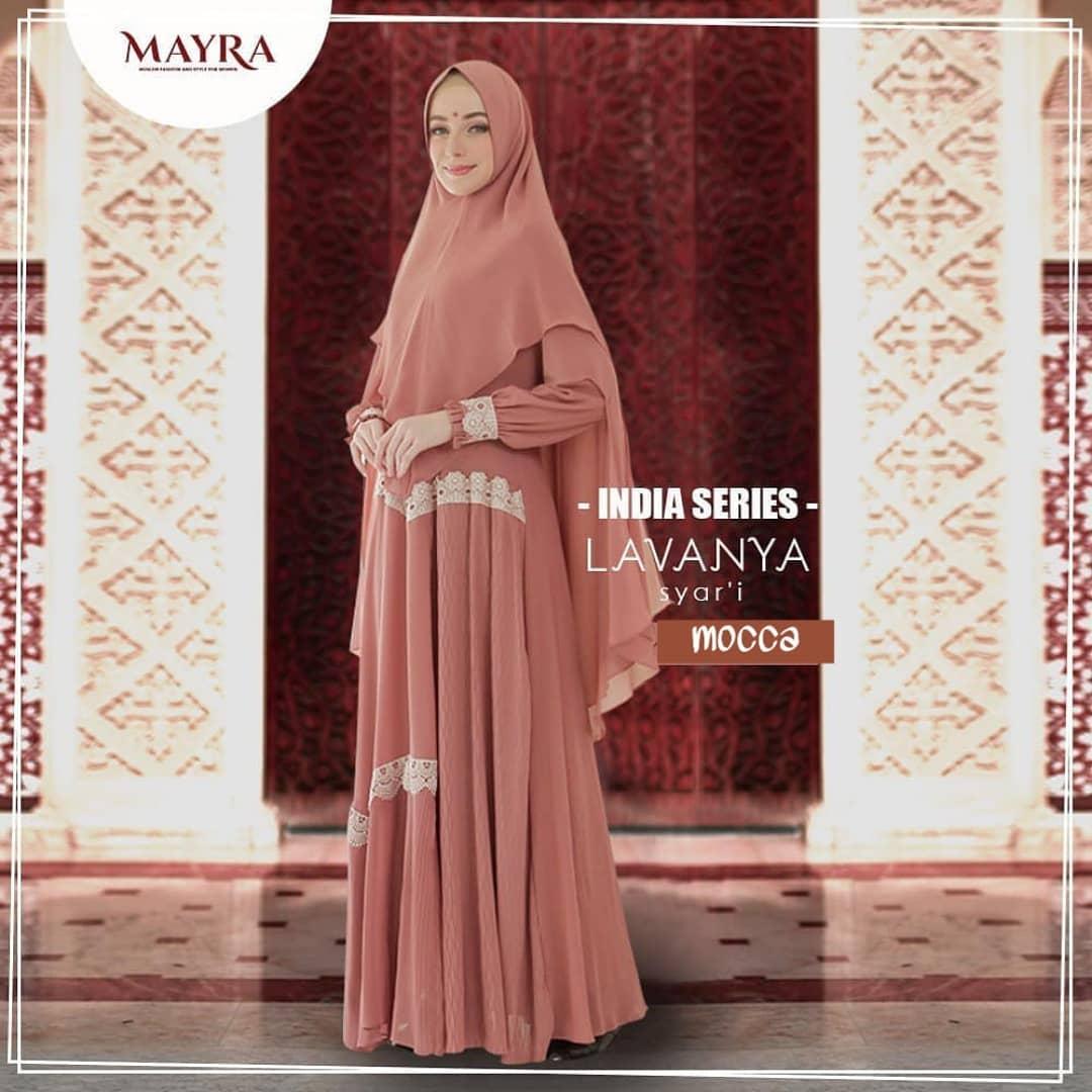 Aniisah Fashion - Lavanya Syari Set Hijab / Baju Gamis Wanita Terbaru 12  / Gamis Wanita / Gamis Syari Set Khimar / Busana Muslim Wanita Terbaru /