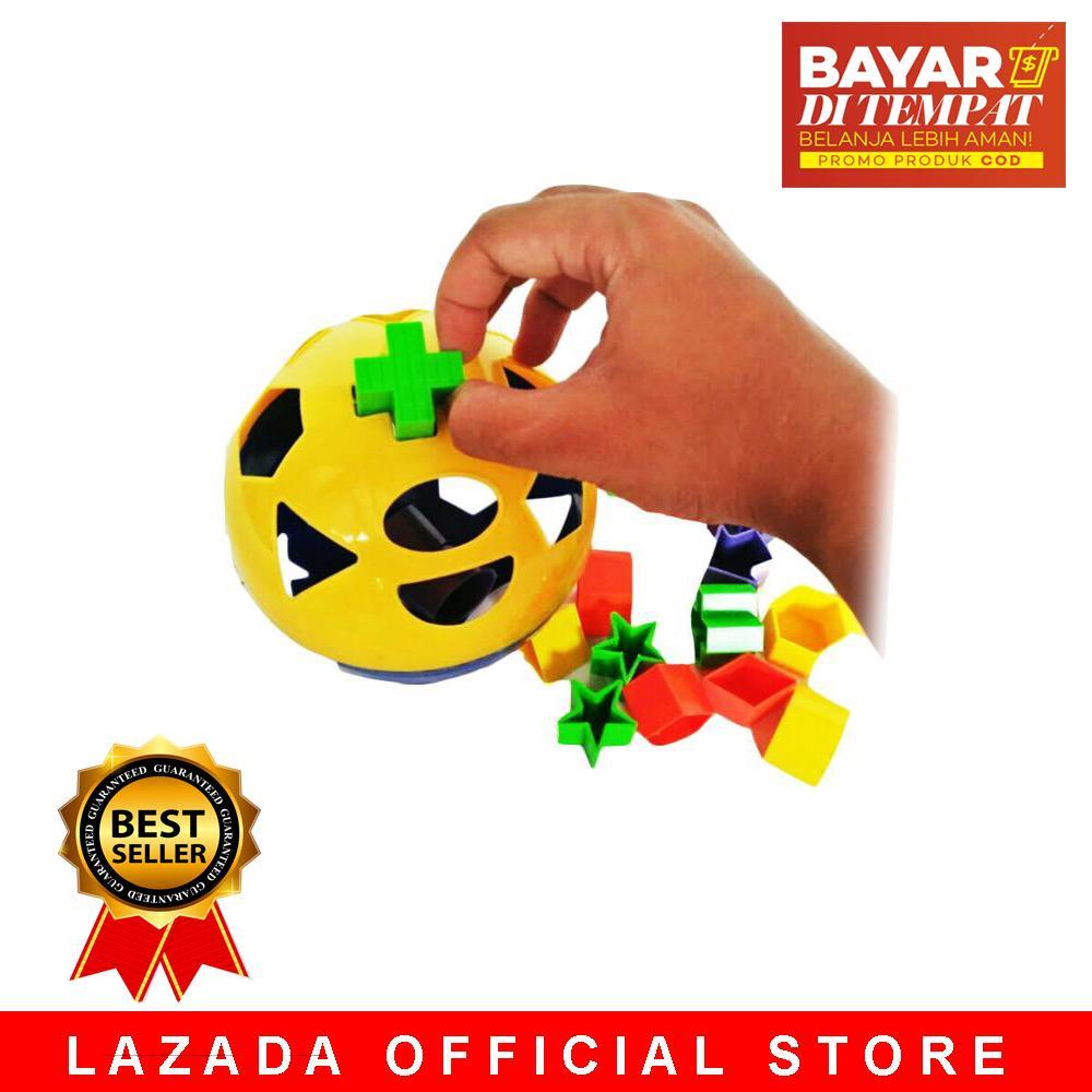 Mainan Edukatif Edukasi Anak Puzzle Ball Jigsaw Bola Bentuk Shape Warna - WARNA RANDOM