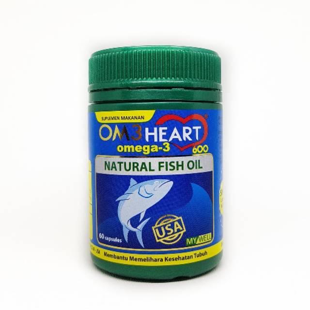 Om3heart omega 3 natural fish oil isi 60 kapsul omeheart omega3