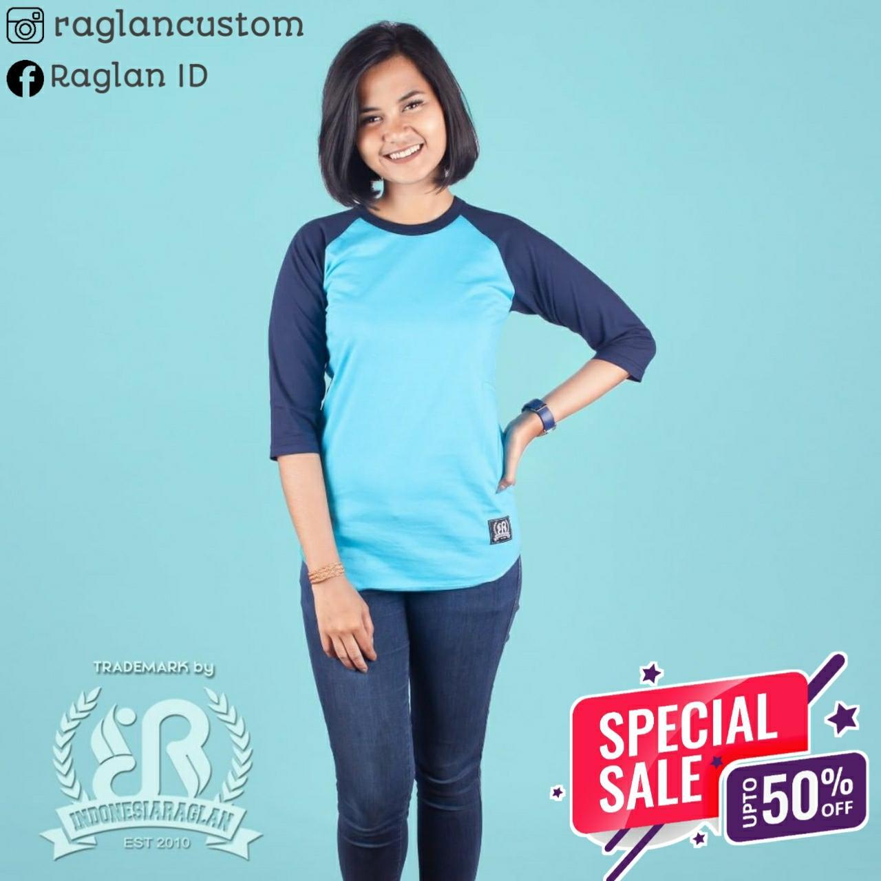 [COD] Kaos Raglan IDR Indonesia Raglan Baby Dongker Combed 30s Kualitas Premium Basic Dewasa 3/4 atau Panjang dan basic Anak