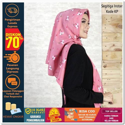 Indonesia Heritage JILBAB SEGITIGA INSTAN KODE KN KP KL KM Hijab Jilbab Segi Empat Square Pashmina Kerudung Khimar Pesta Kondangan Nikahan Simple Pet Instan Instant Bergo Kekinian Trendy