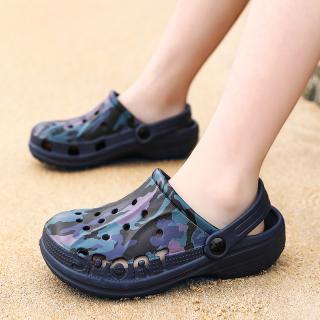 Giày Lỗ Trẻ Em Bé Trai Bên Bờ Biển Mùa Hè Trong Nhà Gia Đình Chống Trượt Mềm Dép Trẻ Em Đầu Bãi Biển Thủy Triều thumbnail