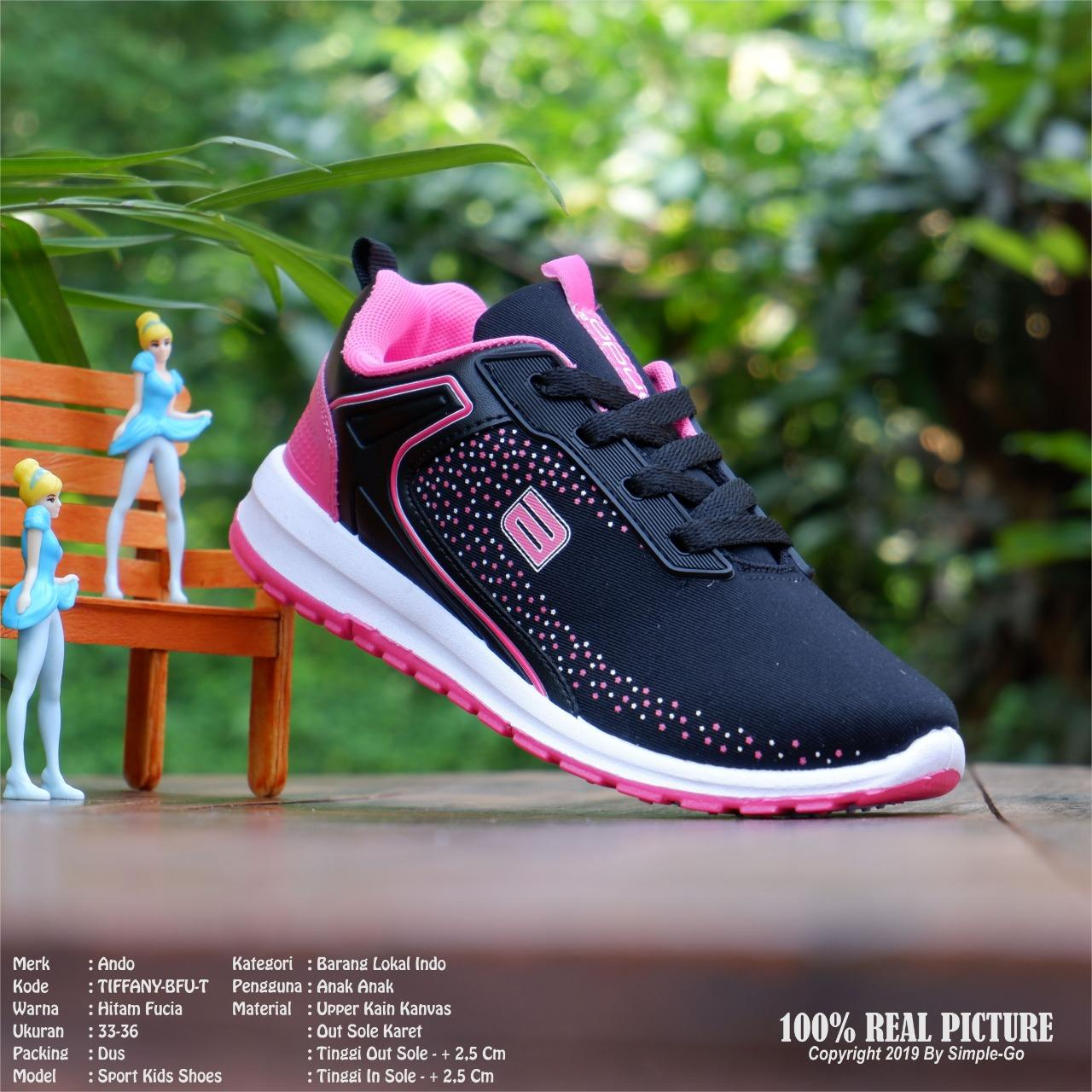 Ando Kimmy Sepatu Olahraga Sepatu Aktiv Warna Black Fuschia - harga ... e6444c4468