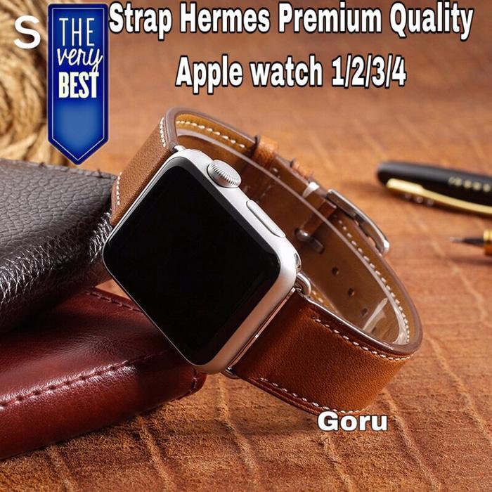 Strap apple watch iwatch 1 2 3 4 tali hermes kulit leather strap 42 44