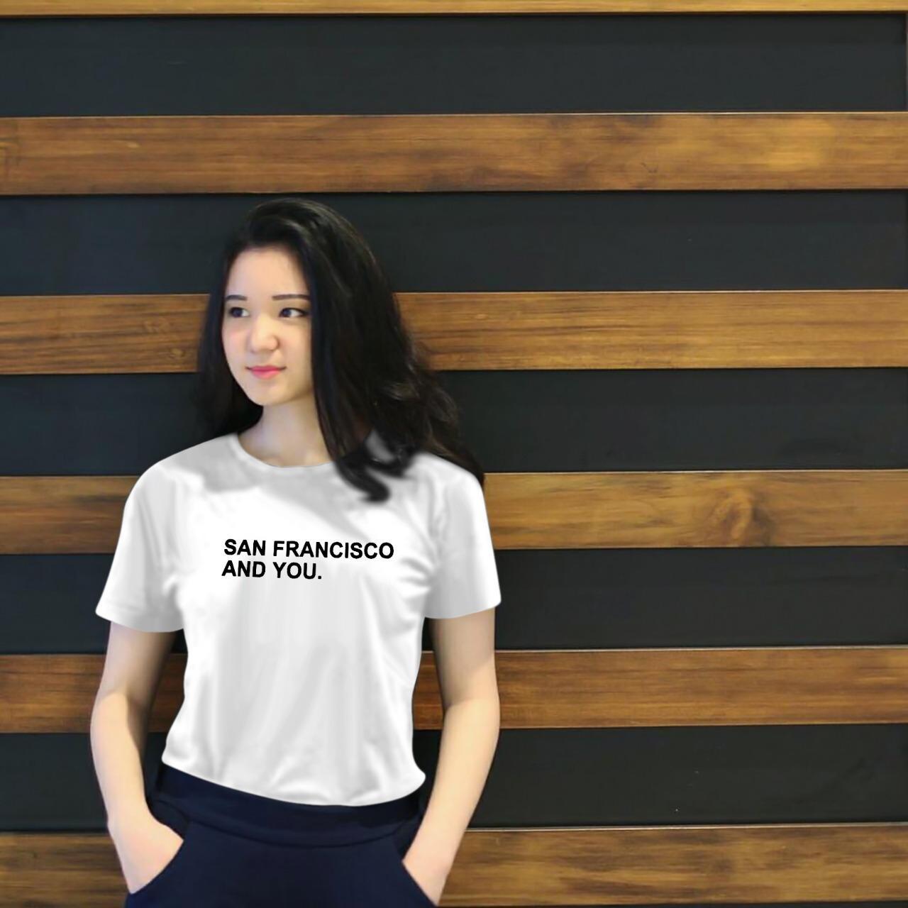 7629bf17 Xavier Kaos Wanita tee SAN FRANSISCO / T-shirt Distro Wanita / Baju Atasan  Kaos