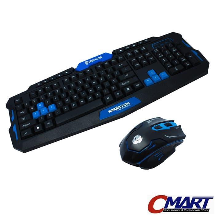 Rexus Warfaction VR2 Keyboard + Mouse Gaming Wireless Combo  Wireles Wirelles WirellessRX-V2