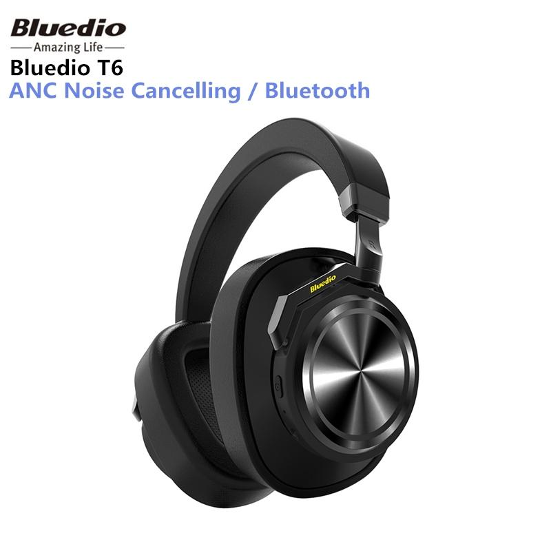 Bluedio T6 Active Noise Canceling headphones Wireless with Microphone - Hitam