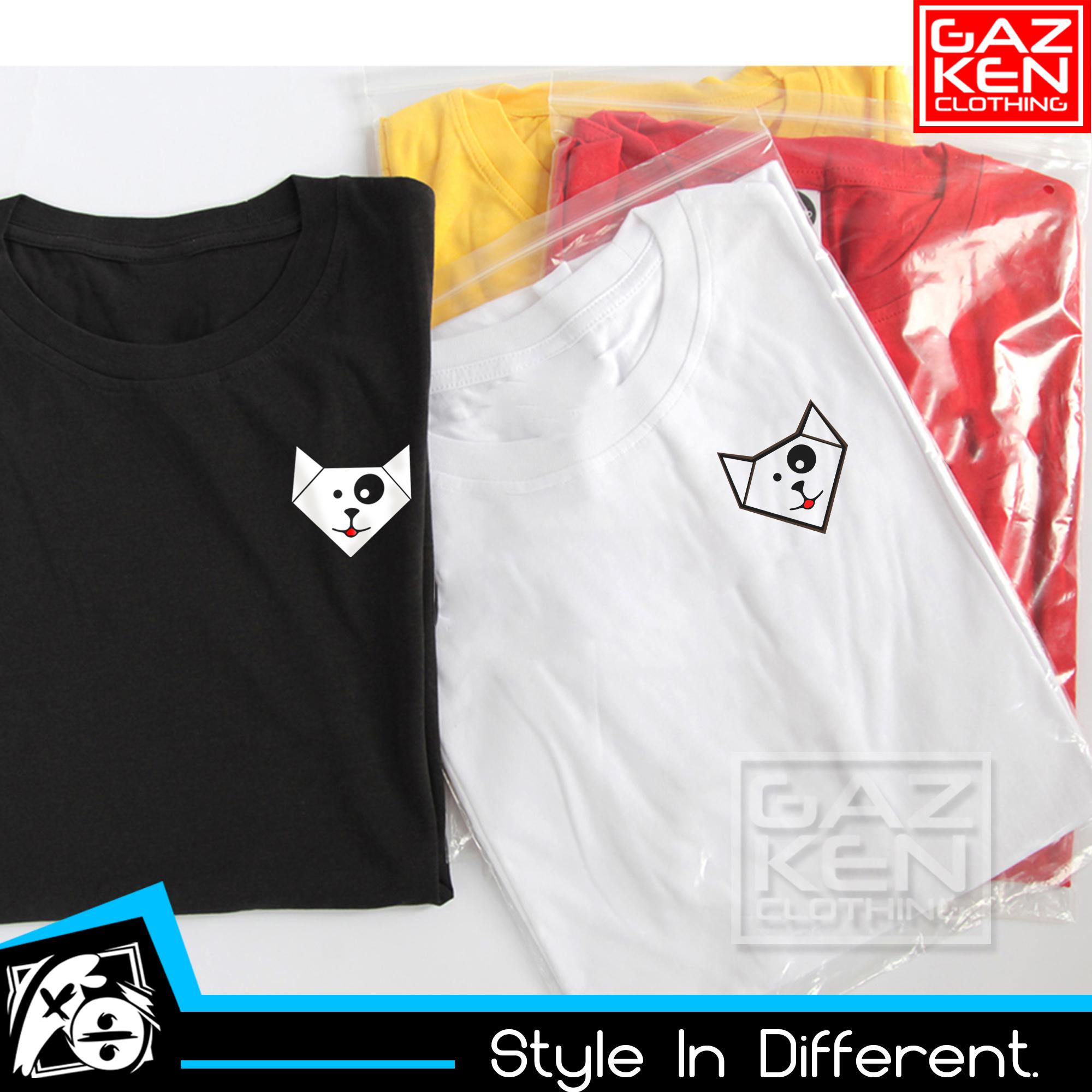 Kaos Baju Logo MiawAug Kecil Warna Putih Youtuber Gaming Gamer Miaw Aug Cotton Combed 30s Simple Keren Kualitas Distro
