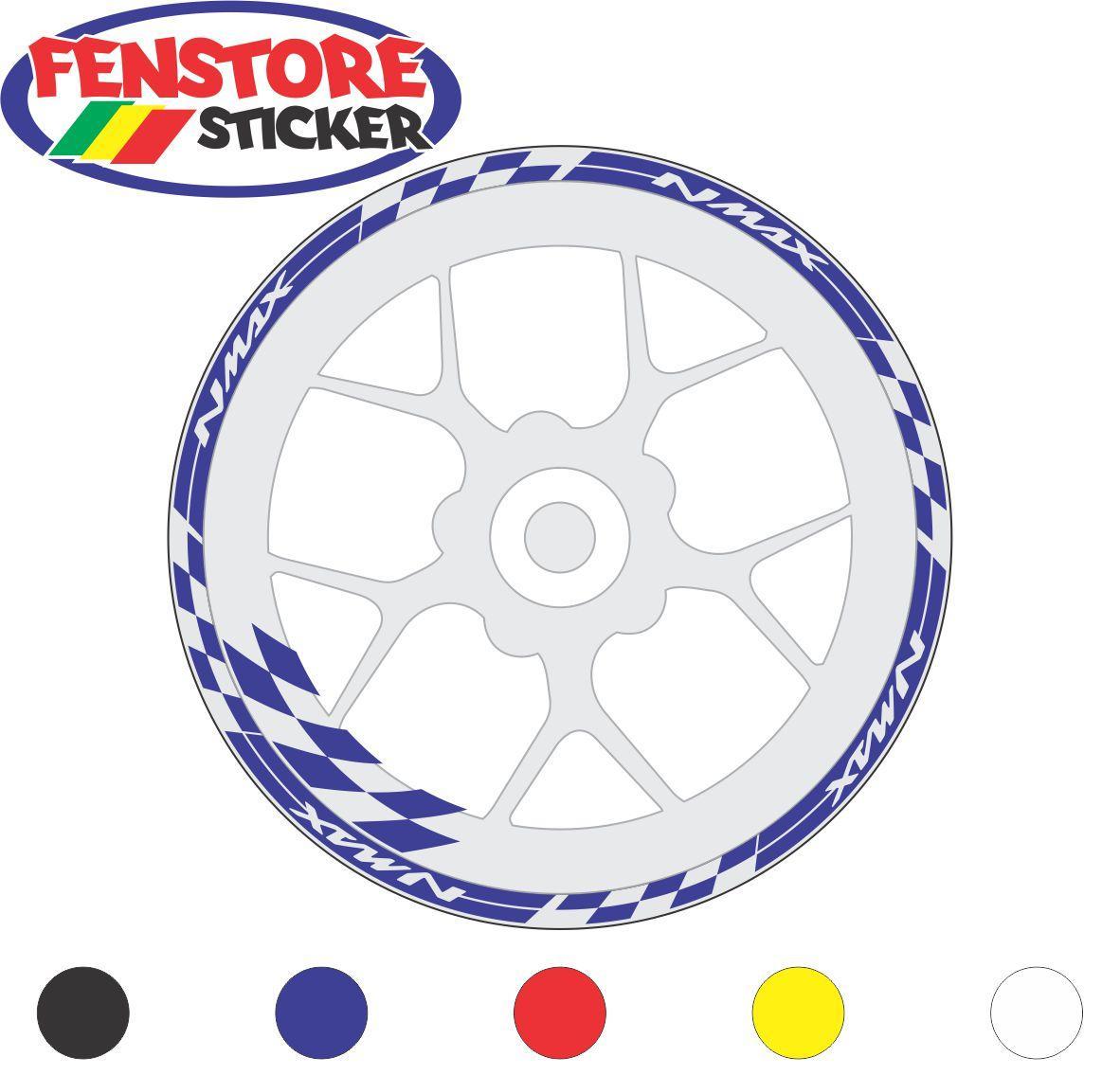 FENSTORE Sticker Cutting -  Aksesoris Motor Stiker Velg Yamaha Nmax 13br  -  FENSTORE sticker