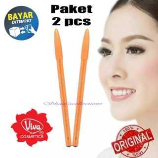 PROMO 2 PCS - Pensil Alis Queen Eyebrow Pencil Pencil Eyebrow Pensil Makeup Berkualitas- Warna Coklat dan Hitam - LaJanda thumbnail