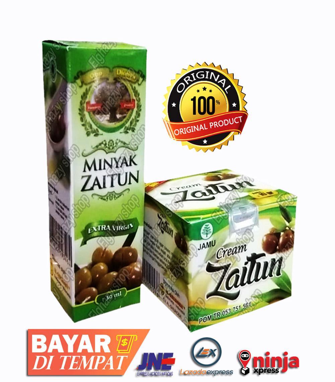 Dari Al Ghuroba Cream Wajah Zaitun &  Minyak Zaitun - Untuk  Wajah Jerawat & Kulit Kusam