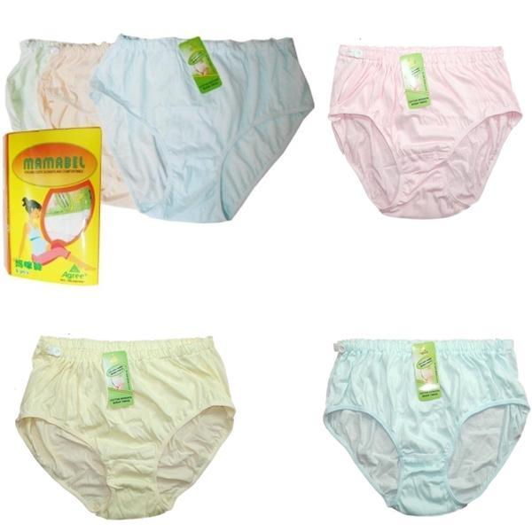 Jelova Angela Celana Dalam Ibu Hamil KANCING 3pcs Mulur up to XXXL - Mix  Colours b2cb26f5b4