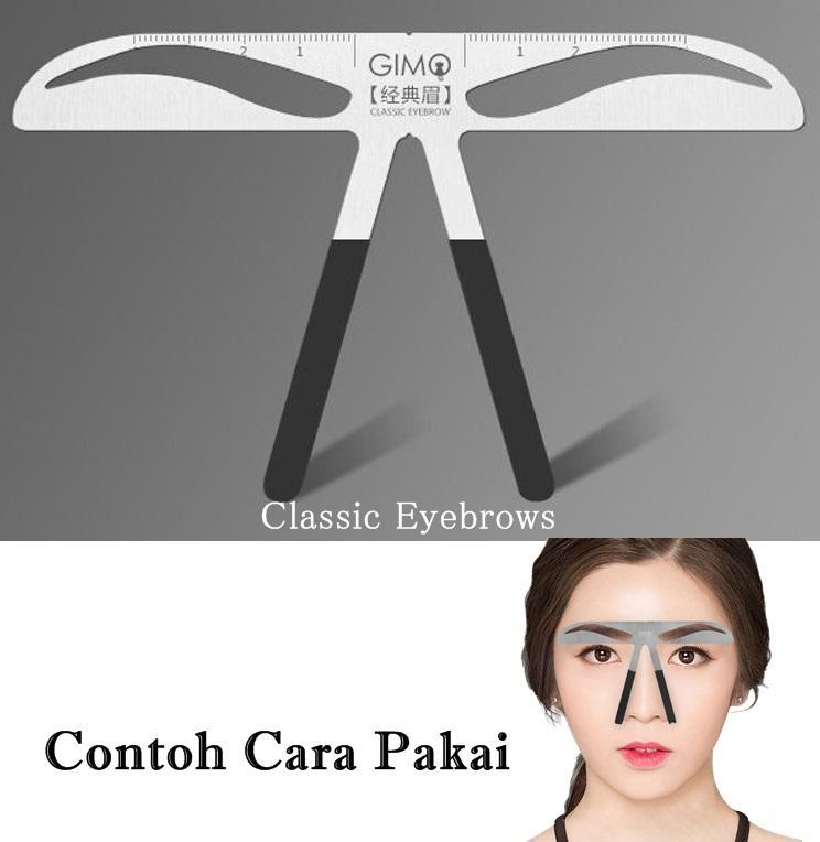 JBS Penggaris Alis Cetakan Alis Alat Pembentuk Tatoo Eyebrow Pen Alis eyebrow ruler Stainless Drawi