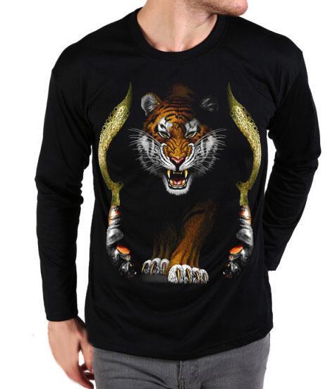 Berton Store Kaos Pria Lengan Panjang Macan Kujang Siliwangi / Kaos T-Shirt Pria Distro / Kaos Pria Terbaru / Kaos Pria Keren / Baju Pria Lengan Panjang / Kaos Distro Pria Bandung