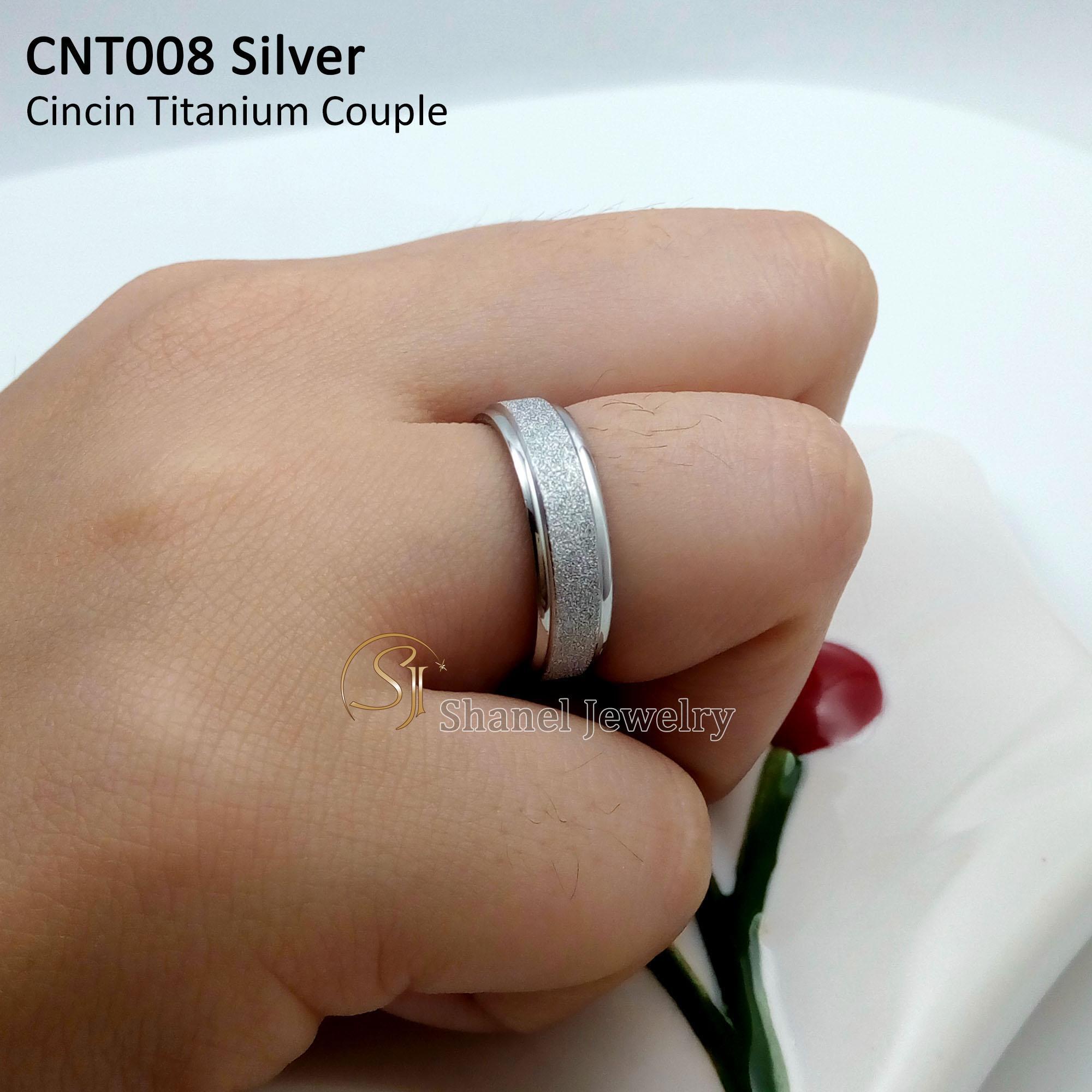SJ Cincin Kawin Couple Pasangan Pacaran untuk Pria Wanita bahan Titanium Awet Anti karat anti alergi perhiasan fashion premium Quality CNT008