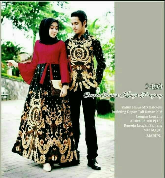 TERMURAH - Batik Couple - Baju Muslim Wanita Terbaru 2018 - Couple Batik - Baju  Batik 5cbf392d1c