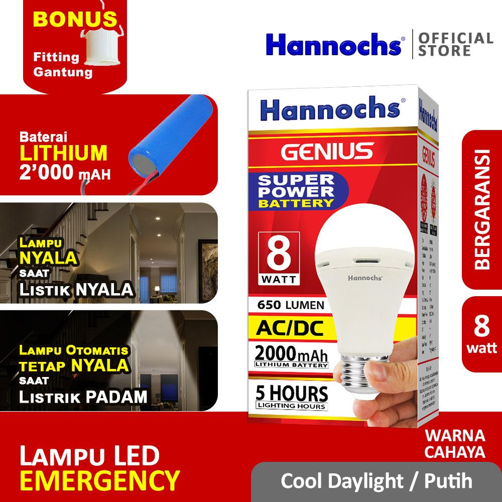 Hannochs Lampu Emergency LED GENIUS 8 watt CDL - Putih