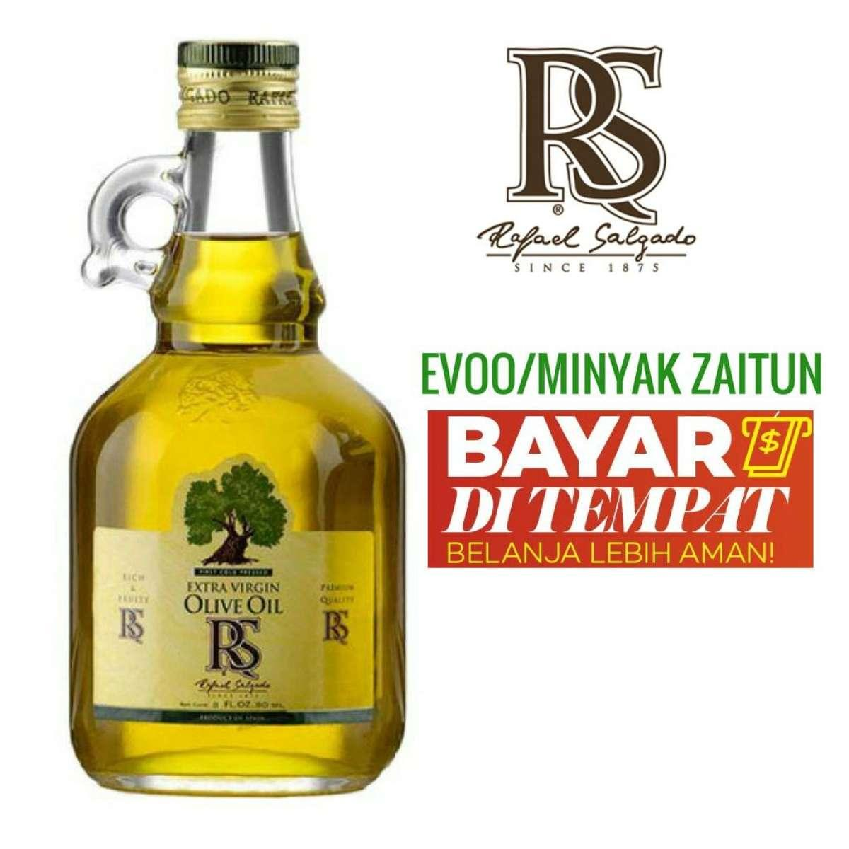 Minyak Zaitun Extra Virgin Olive Oil 40 ML- Minyak Zaitun Asli 100% RS Rafael Salgado - Minyak Zaitun Untuk Diminum, Untuk Kesahatan, Minyak Zaitun Untuk Wajah, Minyak Zaitun Untuk Rambut, Minyak Zaitun Murni, hpai, bertolli, borges, mustika ratu kapsul