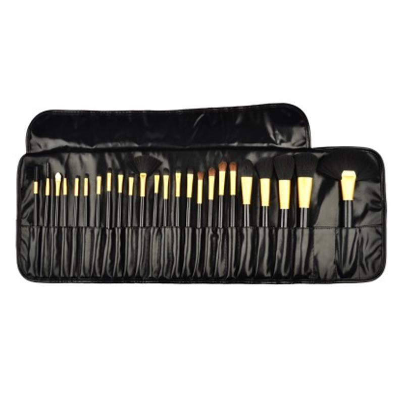 24in1 Set Brush Make Up FREE POUCH Set Kuas Make Up Kecantikan 24 Set Bulu Sintetis Make Up Brush