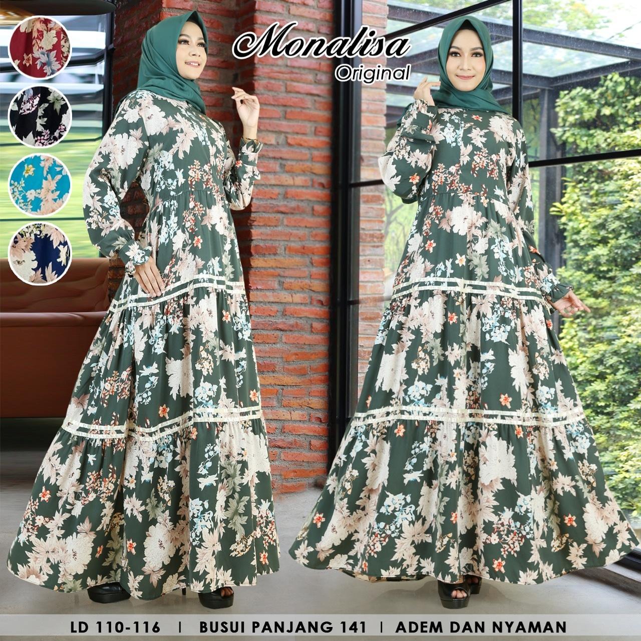 Gamis Syari Wanita Terbaru 2020 Modern Baju Muslim Wanita Murah Gamis Monalisa Premium Dress Fashion Wanita Kinta Dress Lazada Indonesia