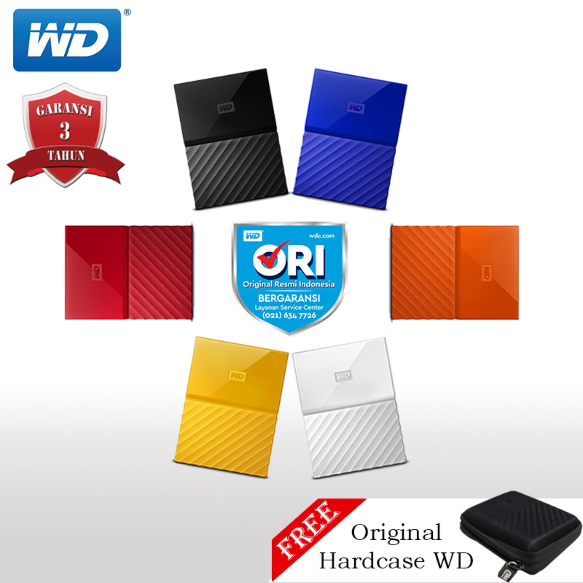 Wd My Passport Hardisk Eksternal 2tb 2.5 Usb3.0 + Hardcase Wd By Wd Official Store