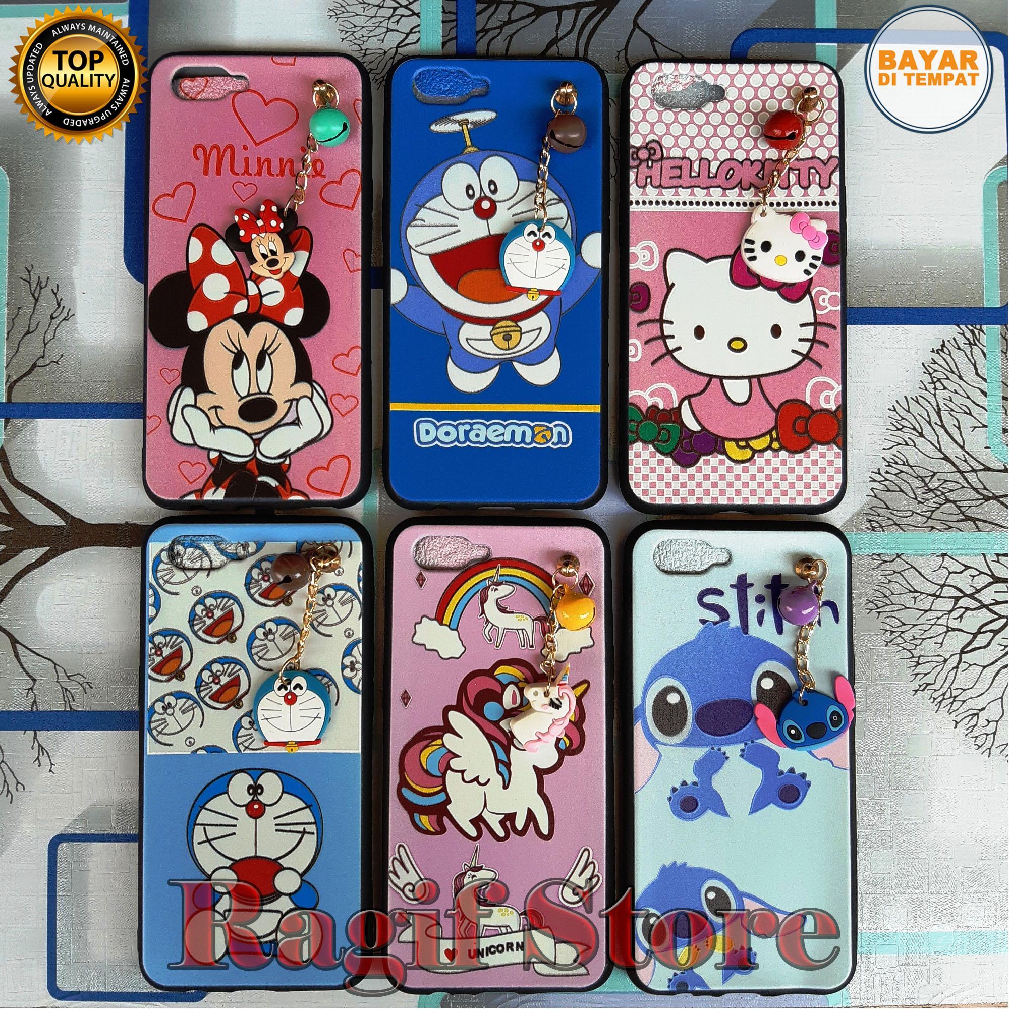 Case/Mika Gantungan Lonceng Plus Boneka Casing/Softcase Realme C2/Oppo A1K Motif Karakter