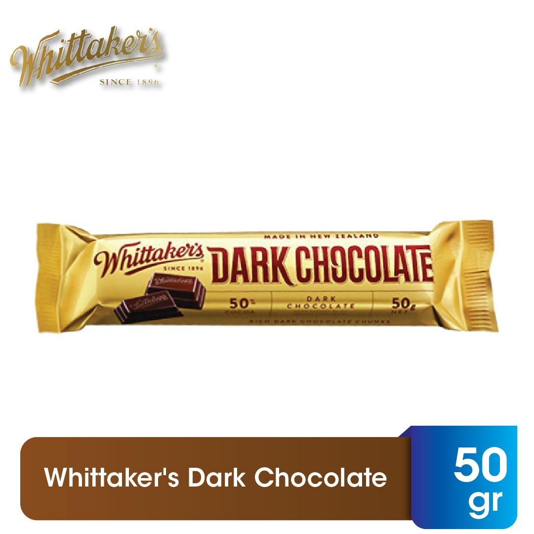 Whittaker's Dark Chocolate 50gr - Coklat Batang